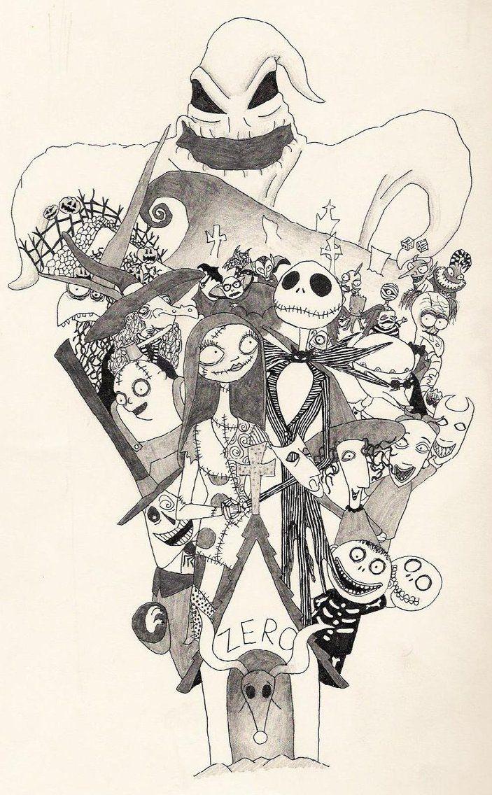 Nightmare Before Christmas Sleeve Ideas... | Tim Burton Creations ...