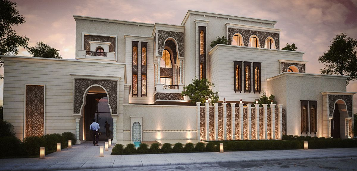 Ground Floor Modern Elevation : Islamic private villa on behance ideas for the house