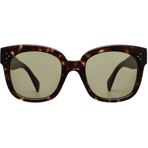 8f77d75c2333 Céline New Audrey Sunglasses (3 110 ZAR) ❤ liked on Polyvore featuring  accessories, eyewear, sunglasses, brown, logo sunglasses, tortoise shell  glasses, ...
