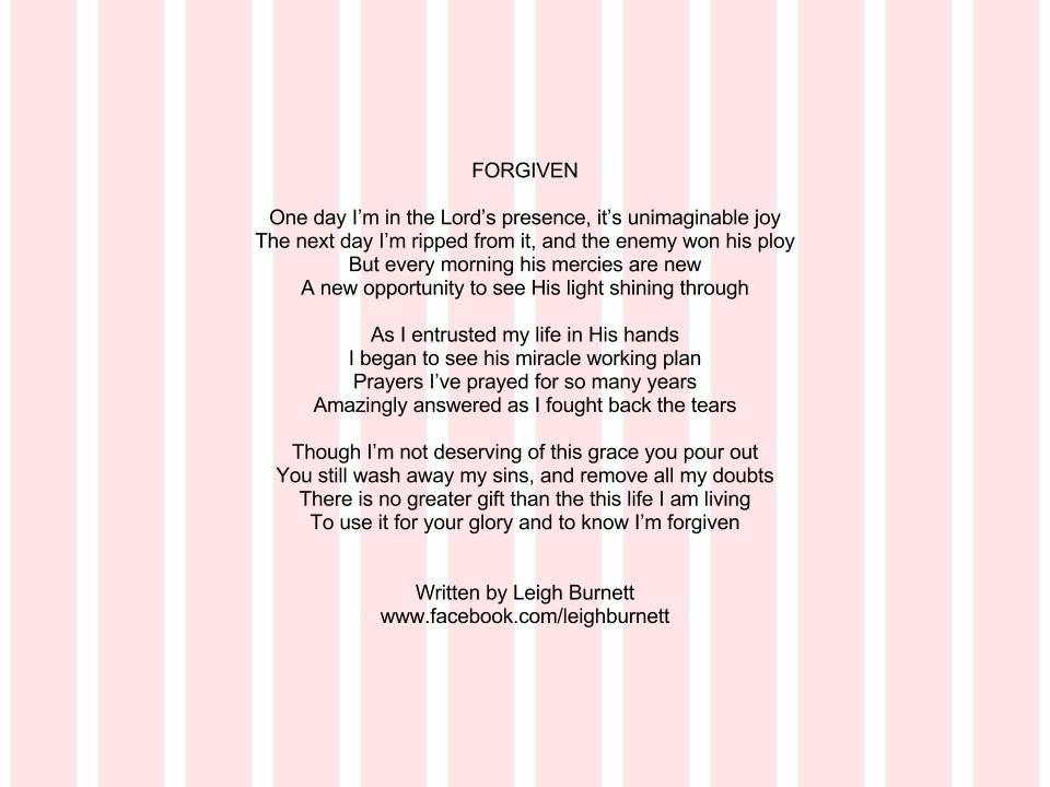 Poem about God's forgiveness | Poetry | Pinterest | God, Poem and ...