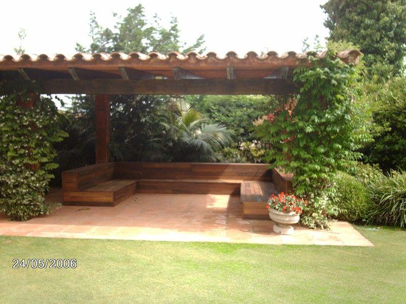 pergola #maderanatural #terraza #jardin #exteriores Pérgola de - terrazas en madera