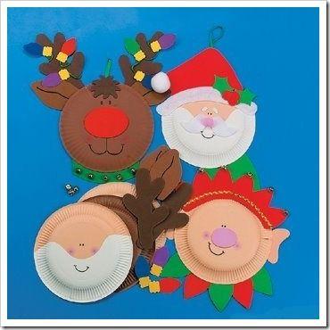 Manualidades navidad para niños adornos hechos con platos de cartón