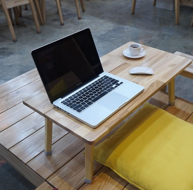 Floor Low Table Wooden Folding Coffee Study Laptop Desk