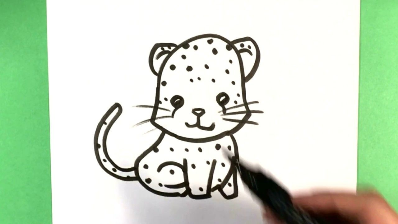How To Draw A Jaguar Step By Step Cute Animals To Draw Howtodraw Howtodrawjaguar Jaguar Howtodrawcuteanimal Cute Animal Drawings Easy Drawings Drawings