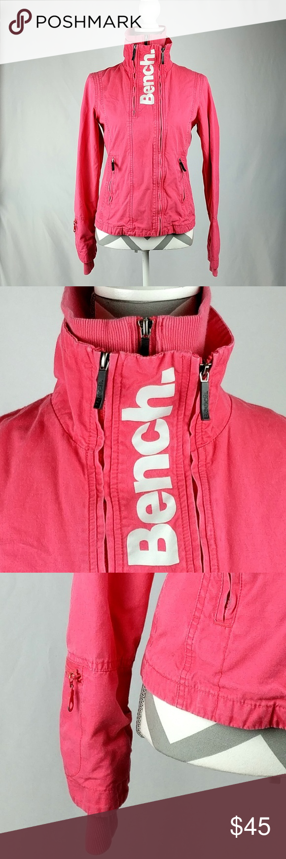 Bench Jacket Zip Front 100 Cotton Bench Jacket Women S Size Small See Picture For Measurements Multiple Zip Front Thu Clothes Design Bench Jackets Fashion [ 1740 x 580 Pixel ]