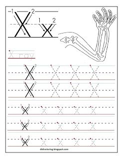 free printable worksheet letter x preschool themes letter tracing worksheets preschool. Black Bedroom Furniture Sets. Home Design Ideas