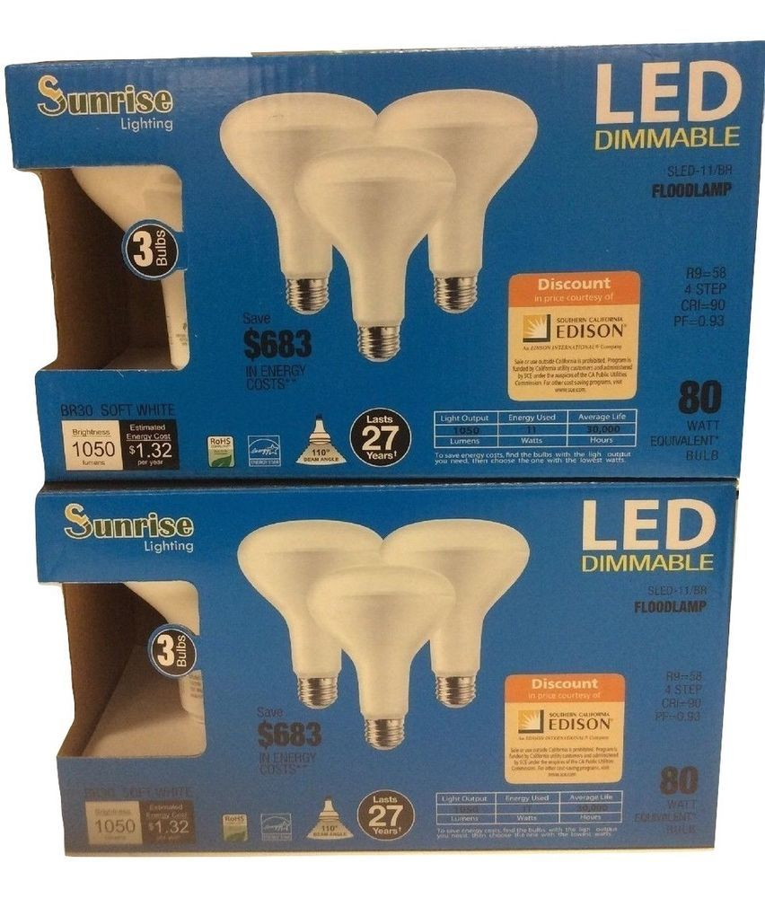 Buy Lightbulbs Details About 6 Pack Br30 Led 11w 2700k Warm White Indoor Outdoor