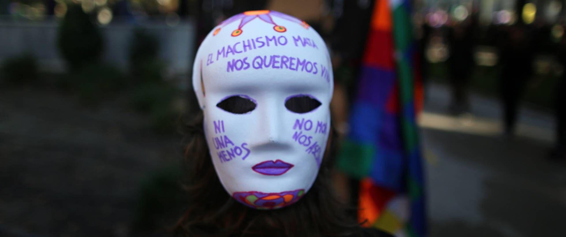 Manifestación contra el machismo en Madrid.