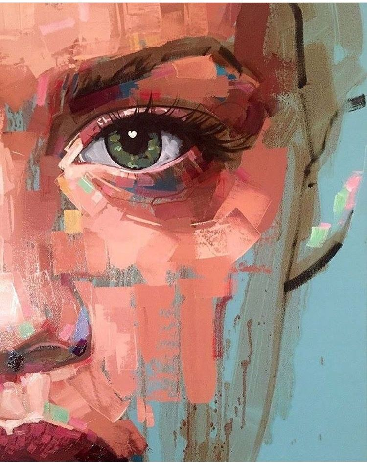 Pin By Marissa On Doodles Abstract Portrait Painting Portrait Painting Portrait Art