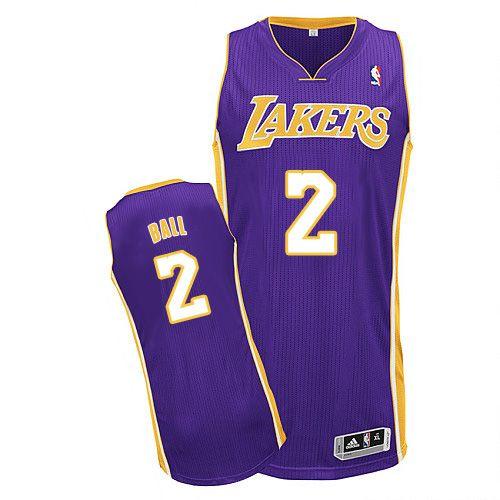 6e972b0a177 Lakers #2 Lonzo Ball Purple Stitched NBA Jersey | Los Angeles Lakers ...