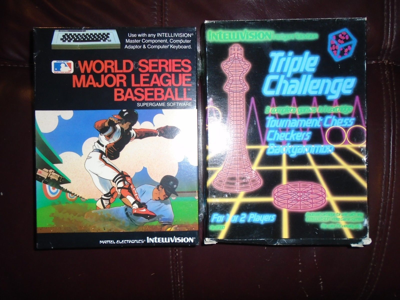 Intellivision 110 Games Most Boxed Consoles Cib Triple Challenge World Serie Games Video Game Posters Tournament Chess