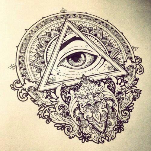 Mandala eye triangel