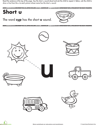 short vowel sounds worksheet u  joy bondoc quiambao  pinterest  worksheets short vowel sounds worksheet u