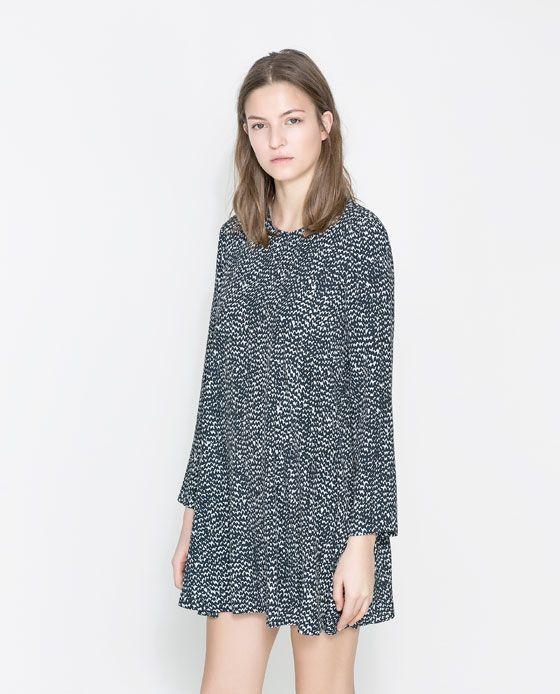 8c613c5d Image 2 of PRINTED FLOUNCE DRESS from Zara | Style | Dresses, Zara ...