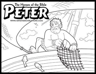 The Heroes Of The Bible Coloring Pages Peter Bible Coloring