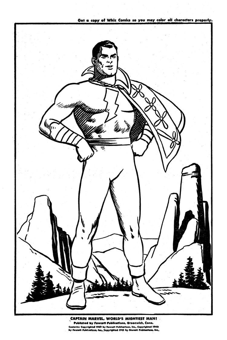 Fawcett Comics Captain Marvel Coloring Book 1941 Free Download Borrow And Streaming Internet Archive Marvel Coloring Captain Marvel Captain Marvel Shazam