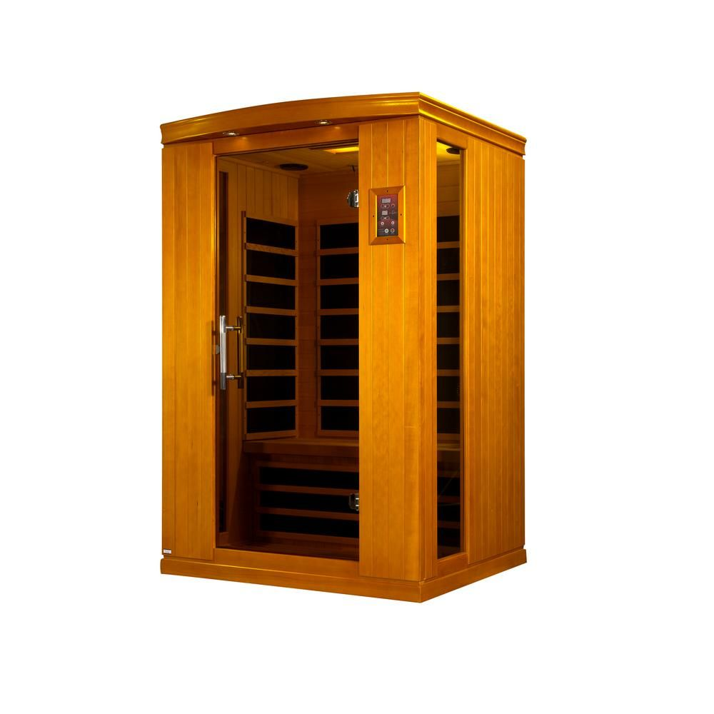 Maxxus Tru Heat 2 Person Far Infrared Sauna With 4 Carbon Tech Heaters Mp3 Light And Digital Controls Lsth 04 Infrared Sauna Tempered Glass Door Indoor Sauna
