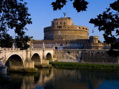 Castello Sant Angelo and River Tiber, Rome, Lazio, Italy, Europe