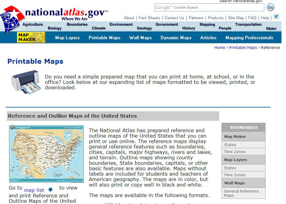 This is a photo of Selective Nationalatlas.gov Printable Maps