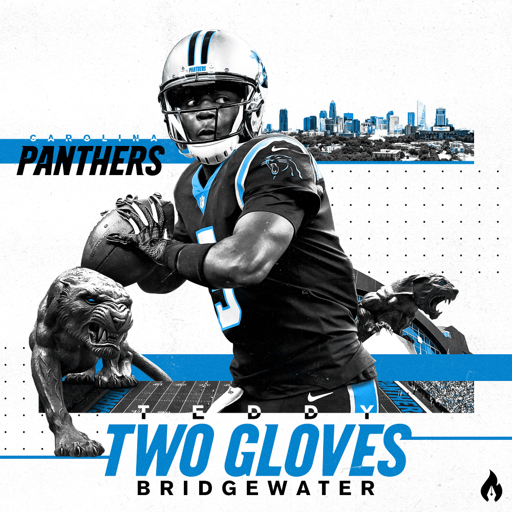 Teddy Bridgewater Carolina Panthers Jersey Swap On Behance In 2020 Carolina Panthers Teddy Bridgewater Carolina Panthers Football