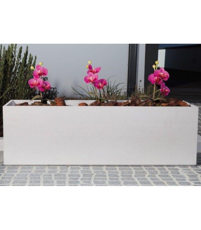 Jardinera exterior de hormig n entradas pinterest - Jardineras de colores ...