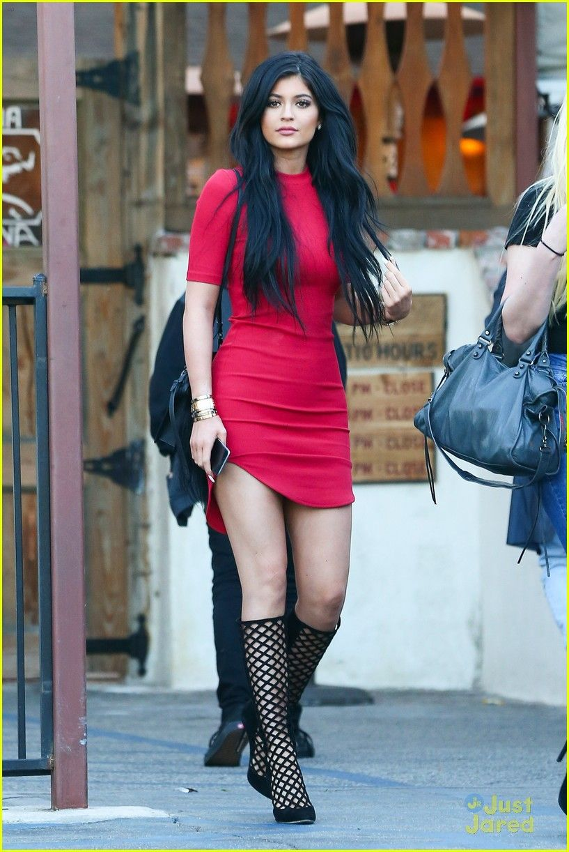 5dd14ae4cf97 Kylie Jenner Is Red Hot in Super Tight Dress