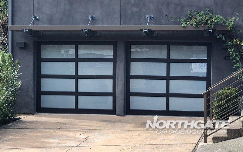 Mc0072 Modern Classic Bronze Anodized Aluminum Frame White Laminate Tempered Glass Panels Photo B Contemporary Garage Doors Glass Garage Door Modern Garage