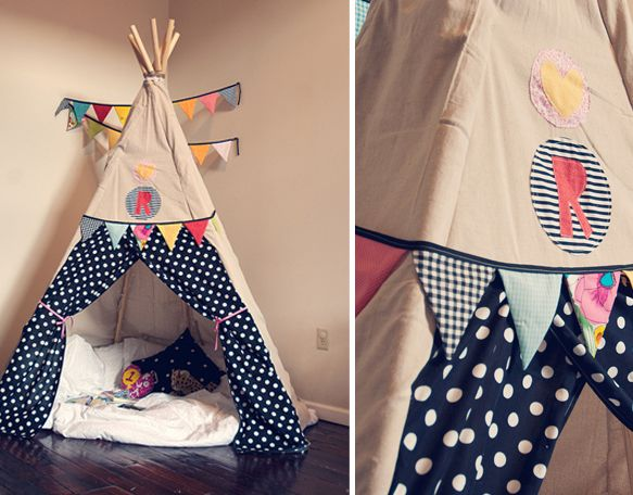comment fabriquer un tipi chambre pour enfant petite. Black Bedroom Furniture Sets. Home Design Ideas