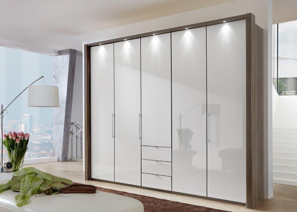 Schlafzimmerschrank Weiß ~ Kleiderschrank loft eiche trüffel glas weiß buy now at