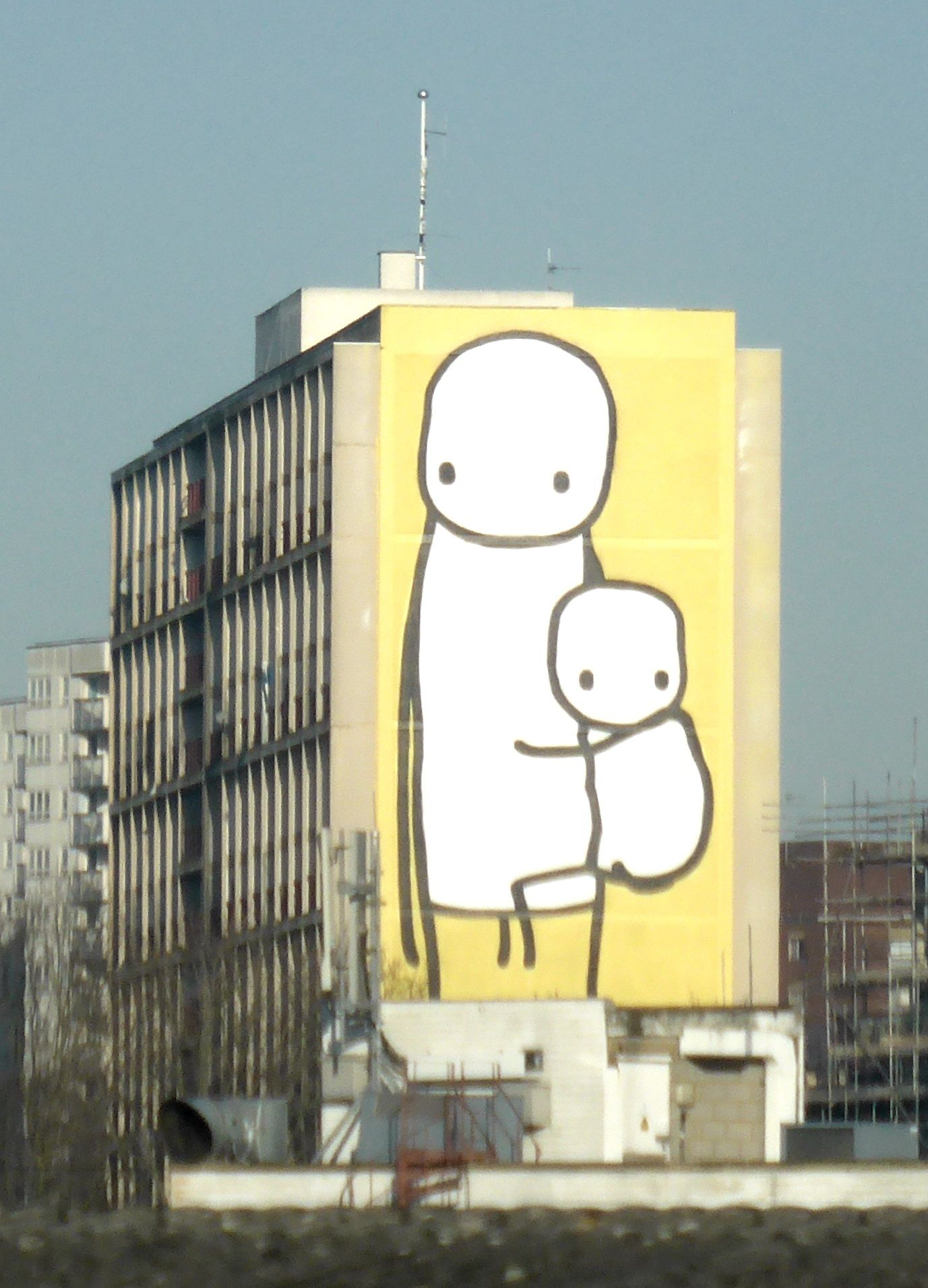 Big Mother By Artist Stik Acton Town London The Tallest Street - Artist gives italian kindergarten vibrant fairytale makeover