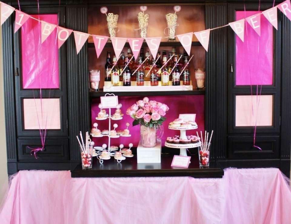 """21st birthday celebration / Birthday """"21 Bottles of Pink"""