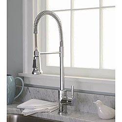 Kitchen Faucet On Premier Commercial Style Chrome Pullout Kitchen Faucet  Overstock Com