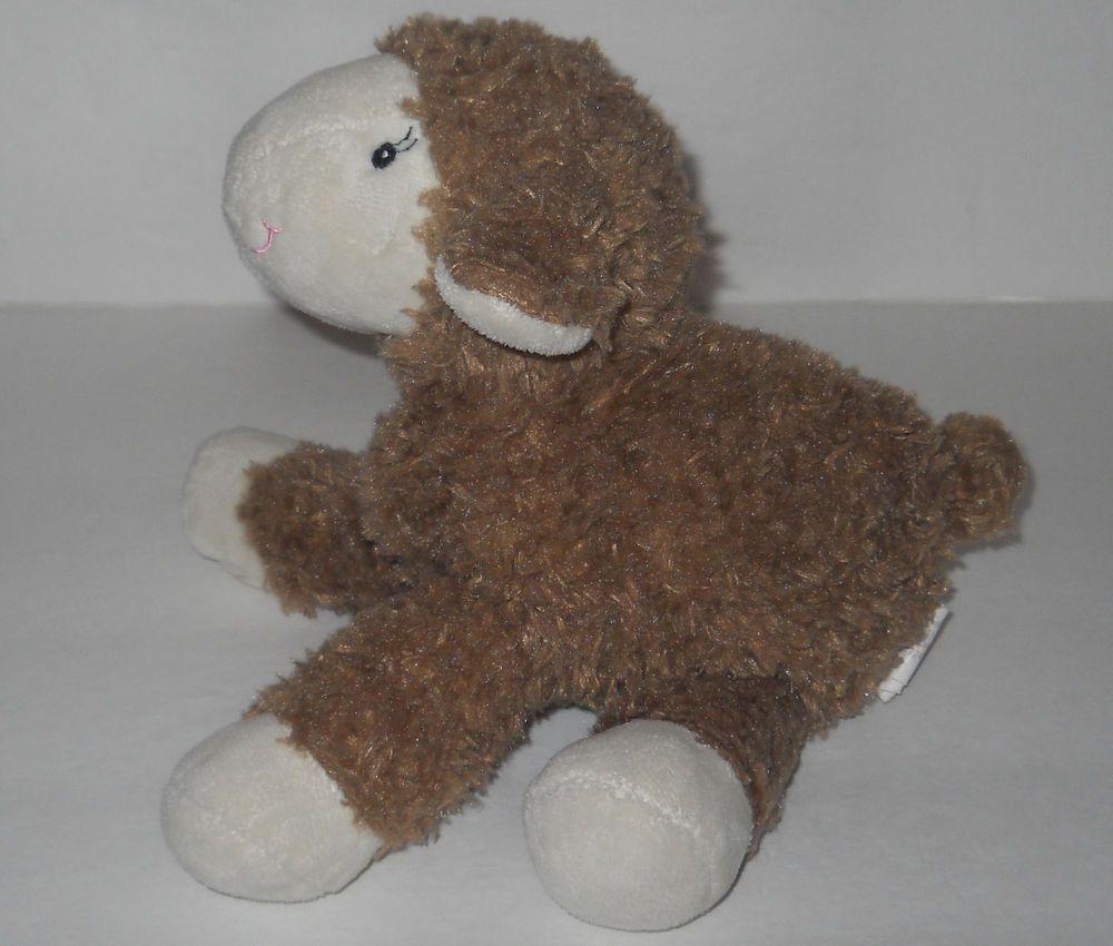 Brown Lamb Plush Stuffed Baby Sheep 9 Animal Toy Sewn Eyes Soft