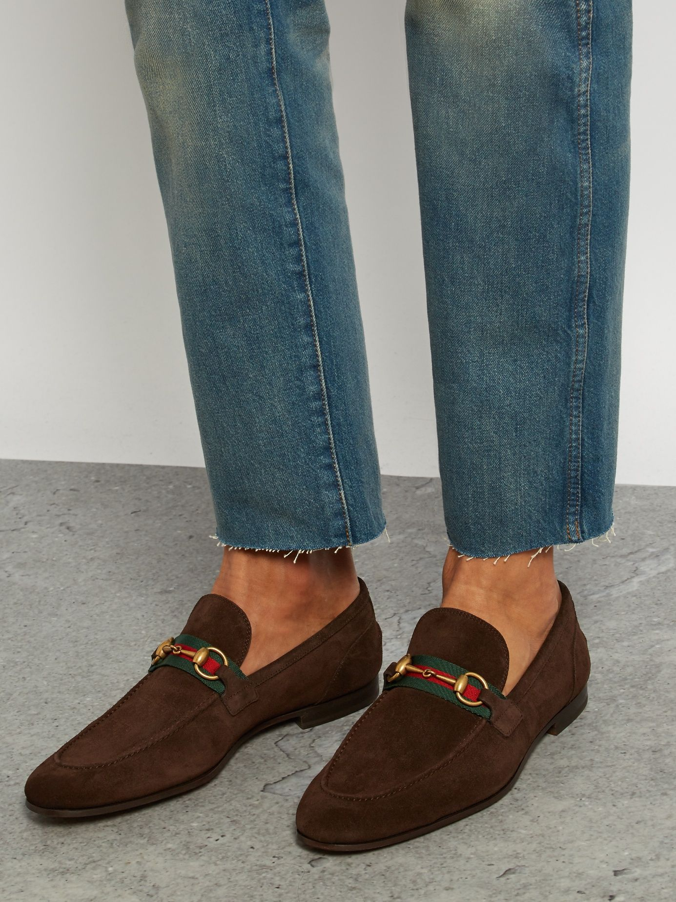 855ddb27f Click here to buy Gucci Elanor suede loafers at MATCHESFASHION.COM ...