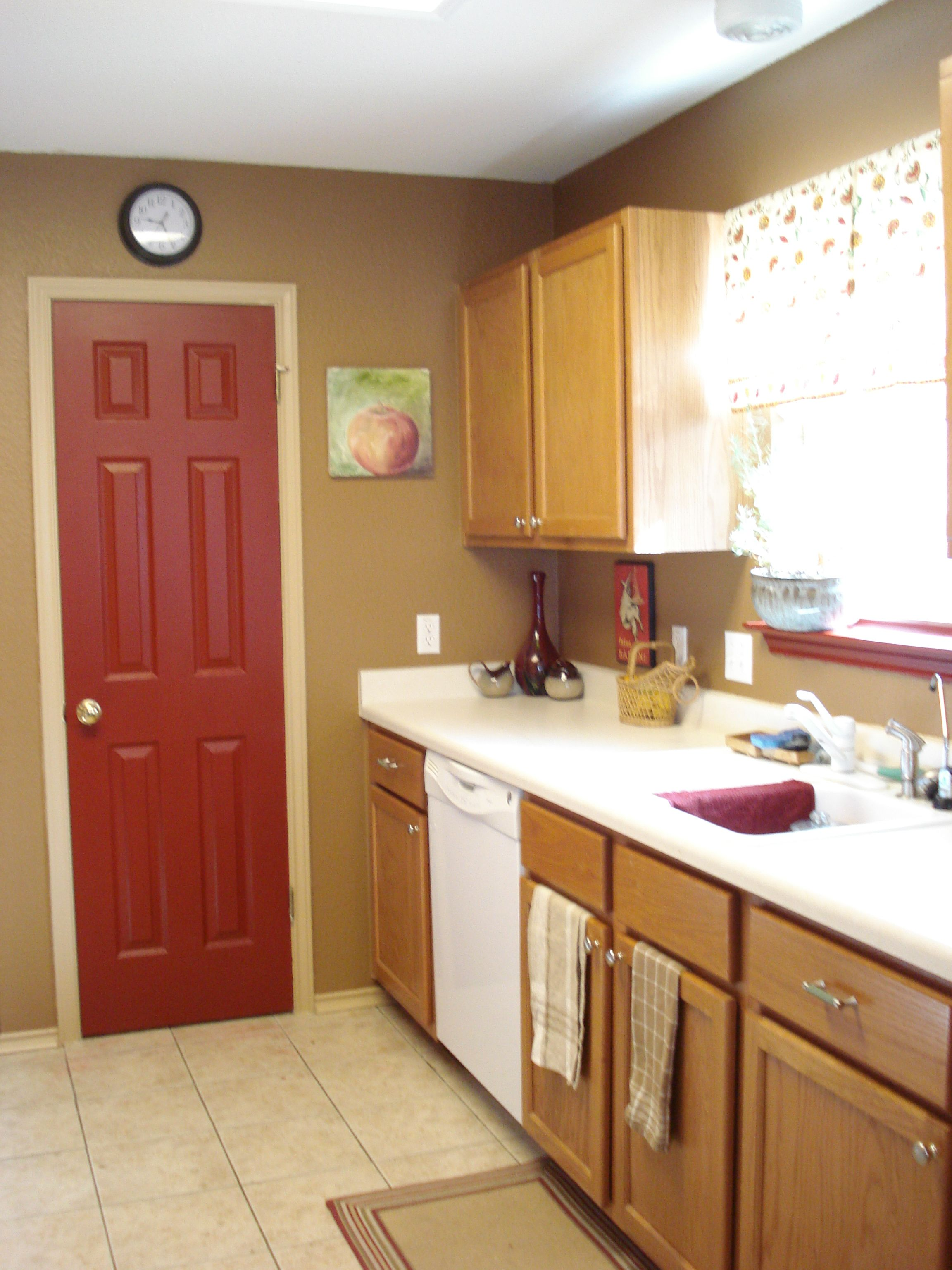 Someone s in the kitchen painting behr colors red accents and kitchen paint - Behr kitchen paint colors ...