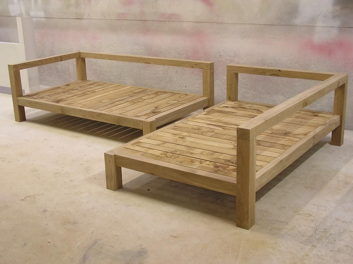 This is meant for outside but i could see it inside in a den study to double as a guest room Homemade wooden furniture