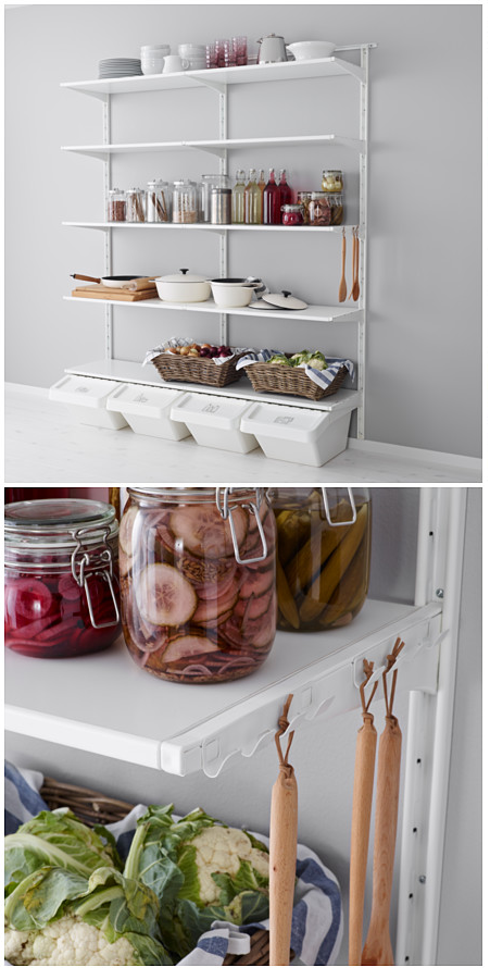 ikea algot storage system ikea ideas decor pinterest ikea algot storage and pantry. Black Bedroom Furniture Sets. Home Design Ideas