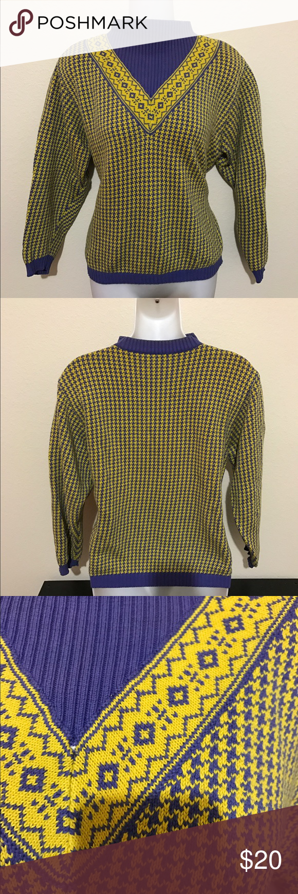 UNITED COLORS OF BENETTON ITALY Vintage Sweater XXL USA Pre owned in good condition. Discolored in the inside of the neck. See pictures for details. from a smoke and pet-free home and are sold as-is.  SHIPPING: Shipping will be done via USPS. Will be send 1 to 3 days after the purchase.  If you have any questions do not hesitate to ask and I'll try to answer them as quickly and as best as I can.  Thank you for checking my item and please check out my other items for sale in my closet…