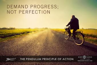 Demand Progress; Not Perfection.  #motivation #justdoit #success