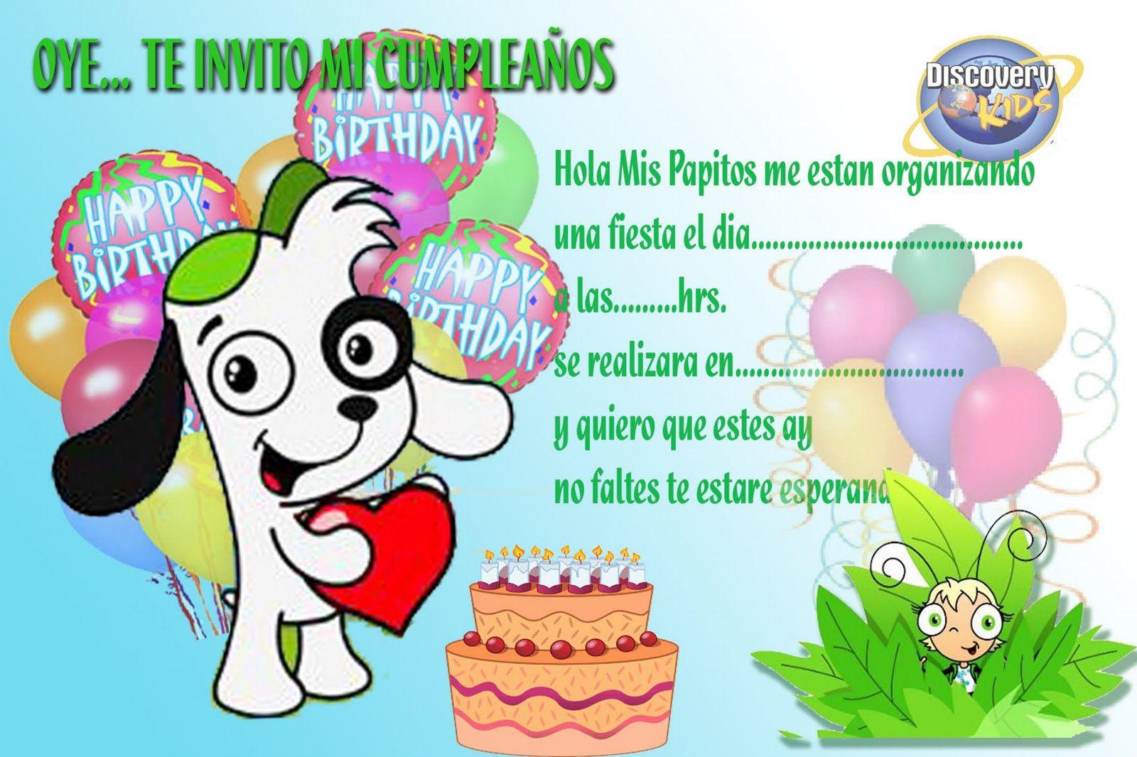 Invitaciones De Cumpleaños Para Niños Gratis Para Imprimir