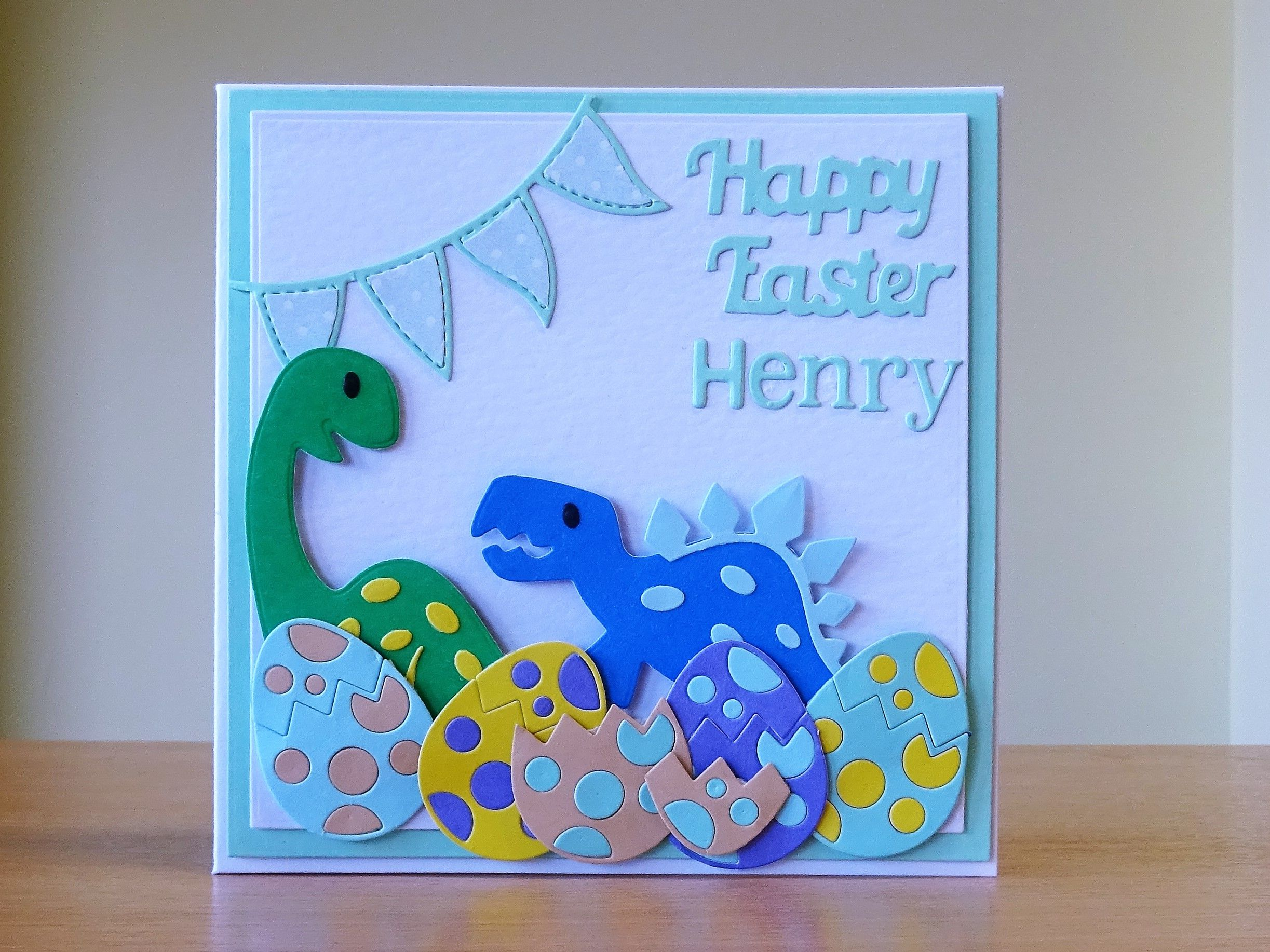 Easter Card Marianne Collectables Dinosaur Die To Purchase My Cards Please Visit Craftycardstudio On Ets Handmade Craft Cards Dinosaur Cards Cards Handmade