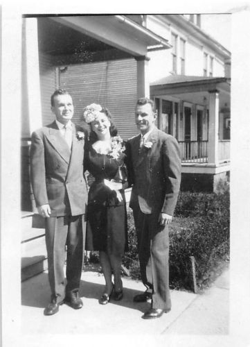 Photograph Snapshot Vintage Black And White Family Dress Suits