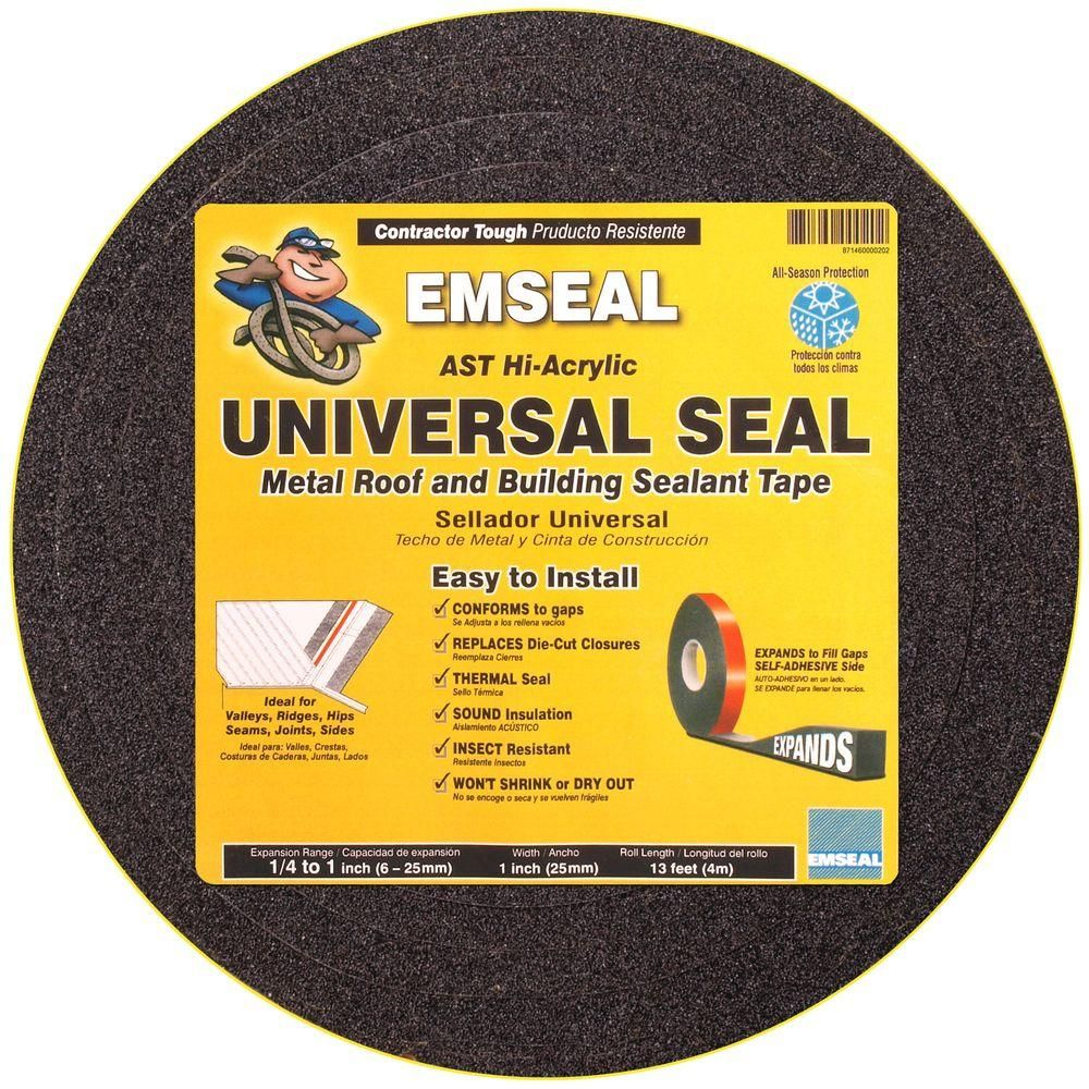 Universal Seal 1 In X 1 In X 12 Ft Impregnated Expanding Open Cell Foam Sealant Tape Hd Asr 25 25 04 The Home Depot In 2020 Sealant Metal Roof Tape