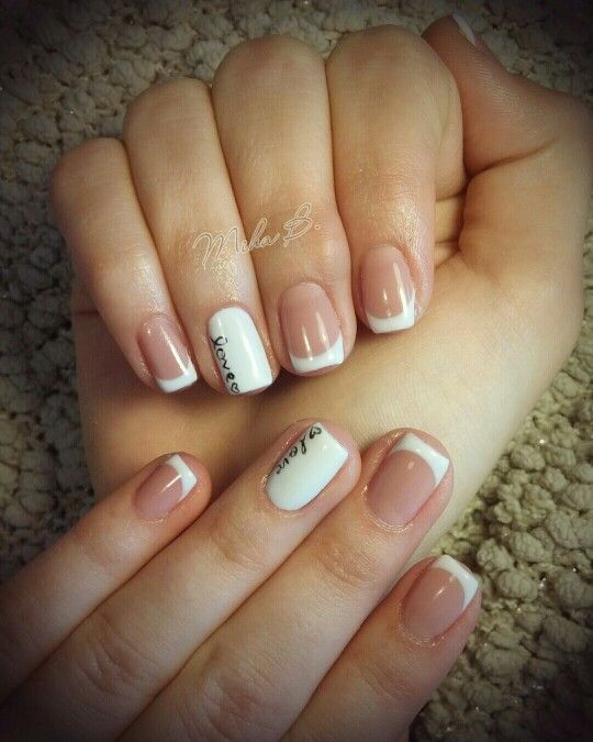 French manicure simple elegant nails love nail art nail art french manicure simple elegant nails love nail art prinsesfo Images