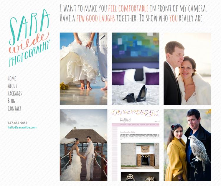 Sara Wilde, photography website #website #portfolio #responsive