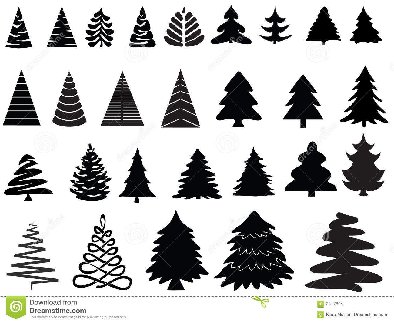 Illustration About Vector Collection The Silhouette Of Pine Trees Illustration Of Needle Outdoor Pine Pine Tree Silhouette Tree Logos Christmas Tree Images