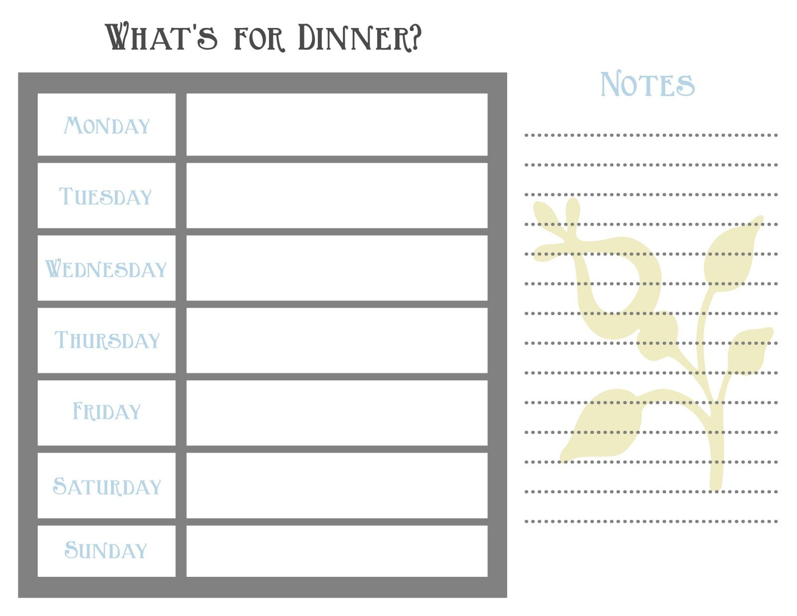 6 meal a day planner template google search meal planning