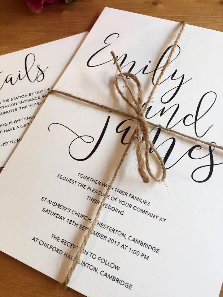 Sample \'Mila\' Personalised Wedding Invitations Evening Invite Shabby ...
