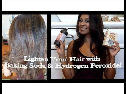 Lighten Your Hair With Baking Soda And Hydrogen Peroxide How To Lighten Hair Lighten Hair Naturally Diy Hairstyles