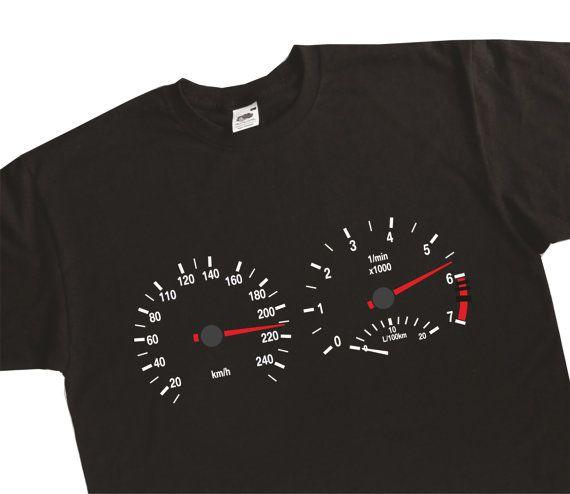 690edc0c77a Instrument Cluster Clocks Rev Counter Speedometer Speedo E34 E36 E30 E39  T-Shirt BMW Inspired BC24